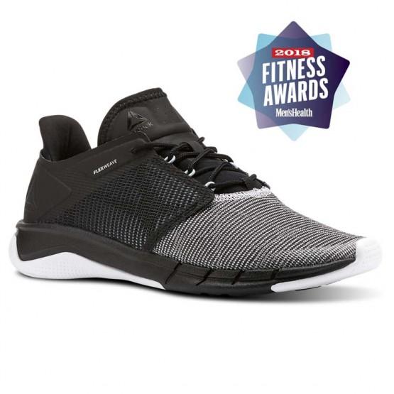reebok fast flexweave παπουτσια για τρεξιμο γυναικεια μαυρα/μπλε/ασπρα/γκρι (670agqls)