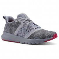 Reebok Print Running Shoes Womens Cloud Grey/Cool Shadow/Rugged Rose (672GBPKA)