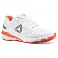 Reebok Harmony Road Running Shoes Mens White/Atomic Red/Pewter/Skull Grey (673KAQIL)