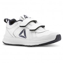 Reebok ALMOTIO 4.0 Running Shoes Kids White/Col Navy/Pewter (673NXCGW)