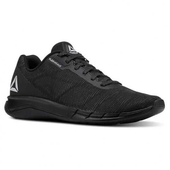 reebok faster flexweave παπουτσια για τρεξιμο ανδρικα μαυρα/γκρι (676sfeqp)