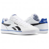 Reebok Royal Complete Shoes Mens White/Black/Collegiate Royal (676SYBIW)