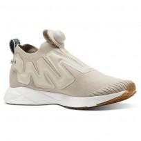 Reebok Pump Supreme Lifestyle Shoes Mens Utl Parchment/Chalk/Mineral Blue/Reebok Lee (679DZKVH)