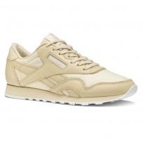 Reebok Classic Nylon Shoes Womens Stucco/White (680IDMGN)