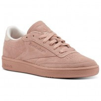 Reebok Club C 85 Shoes Womens Chalk Pink/Pale Pink (682DUZVW)