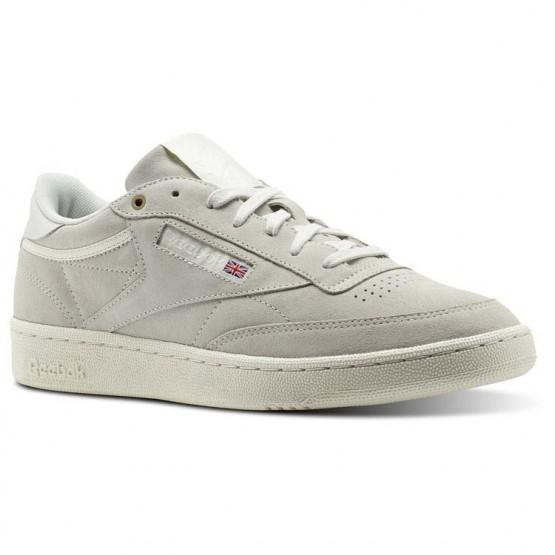 Reebok Club C 85 Shoes Mens Beige/Pebble/Chalk (685XFDUH)