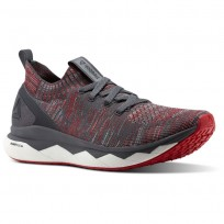 Reebok Floatride RS ULTK Lifestyle Shoes Mens Stark Grey/Ash Grey/Primal Red/White (689GALXD)