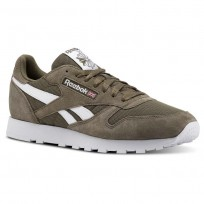 Chaussure Reebok Classic Leather Homme Grise/Blanche (690ZLCOX)