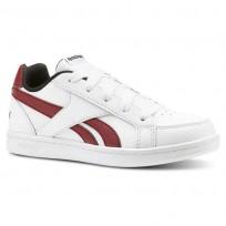 Reebok Royal Prime Shoes Kids White/Triathlon Red/Black (692SGBVN)