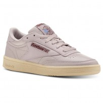 Reebok Club C 85 Shoes Womens Vintage-Lavender Luck/Paper Wht/Rust Wine/Blu (693ZTIDJ)