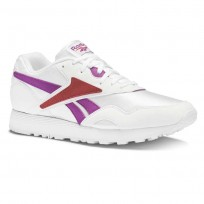 Reebok Rapide OG SU Shoes Mens White/Aubergine/Terra Red (696RCSYE)