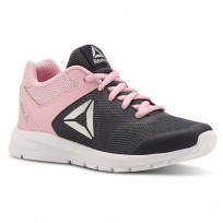 Reebok Rush Runner Running Shoes Girls Collegiate Navy/Light Pink (697UCVDG)
