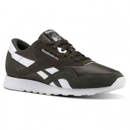 Reebok Classic Nylon Shoes Mens Sf-Dark Cypress/White (707YRXWP)