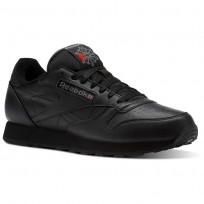 reebok classic leather παπουτσια ανδρικα μαυρα/βαθυ γκρι/κοκκινα (711eguba)