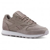 Chaussure Reebok Classic Leather Femme Lavande/Blanche (712RSFQT)