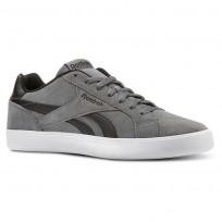 Reebok Royal Complete Shoes For Men Black/White (712UVLHY)