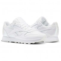 Reebok Classic Leather Shoes Womens Pearl-White/White/Ice (718SAHXI)