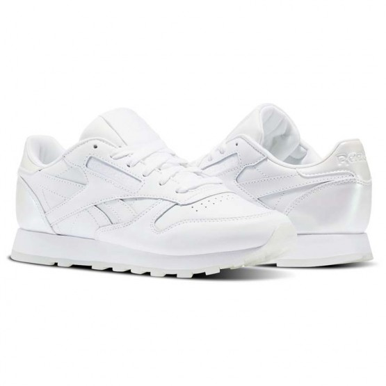 Chaussure Reebok Classic Leather Femme Blanche/Blanche (718SAHXI)