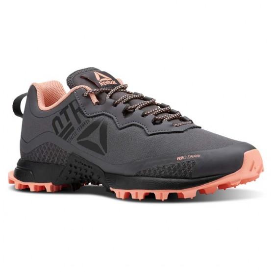 Reebok All Terrain Running Shoes Womens Ash Grey/Digital Pink/Black (720JXMTZ)