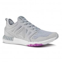Reebok ZPrint 3D Running Shoes Womens Cloud Grey/Meteor Grey/Meteor Grey (721SLGFJ)