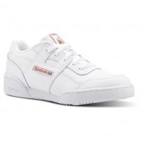 Reebok Workout Plus Shoes For Girls White/Light Orange (725IYPQZ)