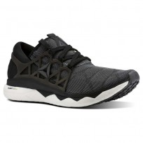 Reebok Floatride Run Running Shoes Mens Black/White/Ash Grey (726QINJK)