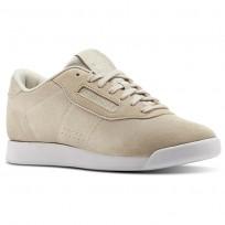 Reebok Princess Shoes Womens Pb-Parchment/White (727WPAOQ)