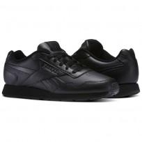 Reebok Royal Glide Shoes Mens Black/Solid Grey/Reebok Royal (727YFCRD)