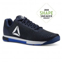 Reebok Speed Training Shoes Mens Vitalblue/Bunkerblue/Collegiatenvy/Spiritwht (728FIGJU)