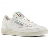 Reebok Club C 85 Shoes Mens Chalk/Paperwhite/Glen Green/Exclnt Red (731ABHMO)