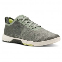 Reebok Speed Training Shoes Womens Industrial Green/Chalk Green/Chalk/Lemon Zest (739TCQZG)