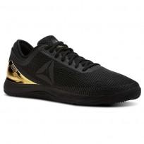 Reebok CrossFit Nano Shoes Mens Black/True Gold (740ONTGV)