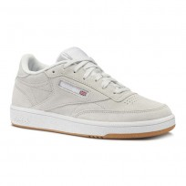 Reebok Club C 85 Shoes Womens Premim Basic 3-Spirit White/Gum/White (741HWXZJ)