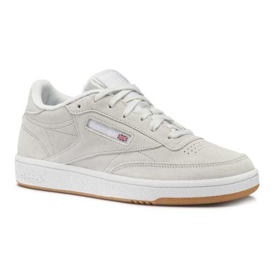 Reebok Club C 85 Shoes Womens Premim Basic 3-Spirit White/Gum/White (741HWXZJ)