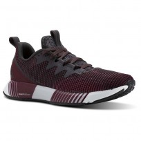 Reebok Fusion Flexweave Running Shoes Womens Smky Vlcano/Twstd Berry/Rustic Wine/Coal/Wht (743BWEKF)