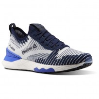 Reebok Floatride 6000 Lifestyle Shoes Mens Collegiate Navy/Acid Blue/White (743QNZGX)
