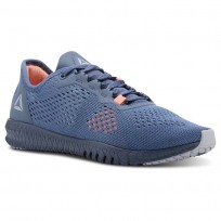 Reebok Flexagon Training Shoes Womens Blue Slate/Cloud Grey/Digital Pink (745RVETB)