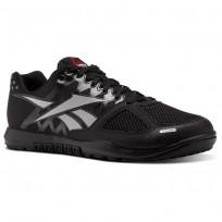 Reebok CrossFit Nano Shoes Mens Black/Zinc Grey (748SOQDF)