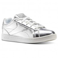 Chaussure Reebok Royal Complete Fille Argent Metal/Blanche (749TBEVZ)