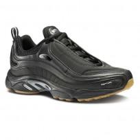 Reebok Daytona DMX Shoes Mens We-Black/Coal/Silver Met./Gum (751VHFWY)