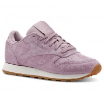 Reebok Classic Leather Shoes Womens Exotics-Infused Lilac/Chalk (752DCWRE)