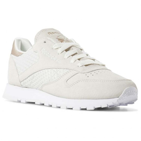 Chaussure Reebok Classic Leather Femme Blanche (754HBNMO)