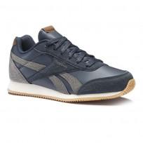 Reebok Royal Classic Jogger Shoes Boys Outdoor/Colleg Navy/Shark/Cream/Wht/Gum (758XOGPZ)