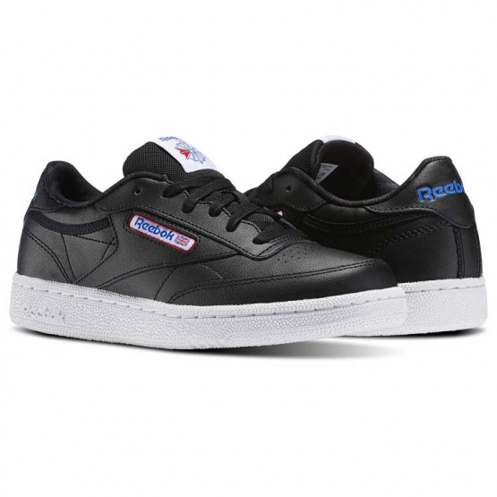 Reebok Club C Shoes Kids Black/White/Vital Blue/Primal Red (762FVCEK)
