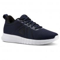 Reebok Instalite Running Shoes Mens Collegiate Navy/Black/White/Pewter (764KLCAD)