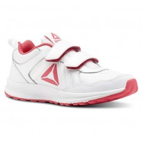 Reebok ALMOTIO 4.0 Running Shoes Girls White/Twisted Pink/Silver Met (769GAJIU)