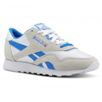 Reebok Classic Nylon Shoes Womens Archive-White/Cycle Blue (771KRHNM)