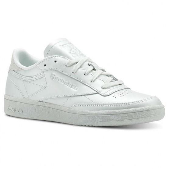Reebok Club C 85 Shoes Womens Mid-Opal (772ZYBDF)