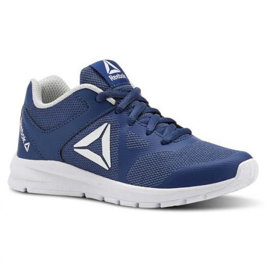 Reebok Rush Runner Running Shoes Girls Bunker Blue/Steel/White (775YCJPE)