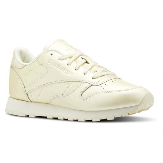 Reebok Classic Leather Shoes Womens Mid-Washed Yellow (775YXSWO)